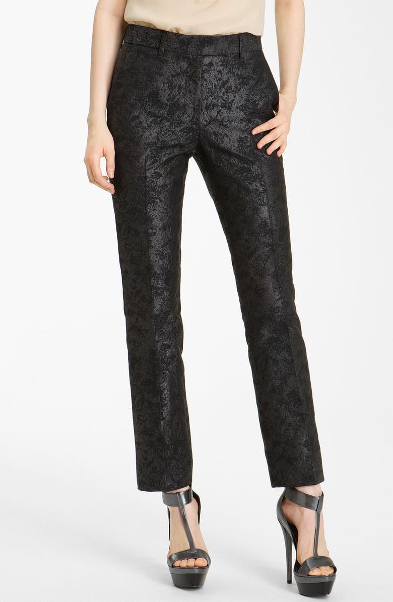 RACHEL ZOE 'Anne II' Slim Brocade Pants, Main, color, 001