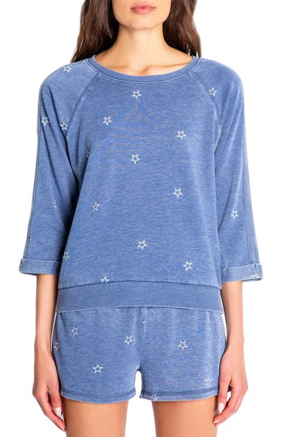 Pj Salvage STAR EMBROIDERED LOUNGE TOP