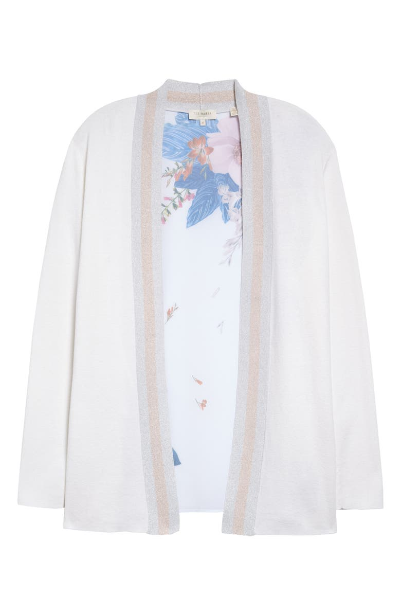 TED BAKER LONDON Josiiey Jamboree Woven Back Cardigan, Main, color, 900