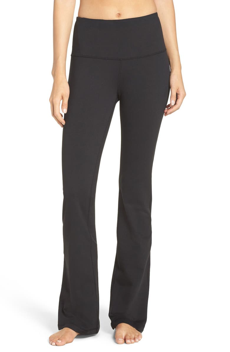 ZELLA Barely Flare Live in High Waist Pants, Main, color, 001