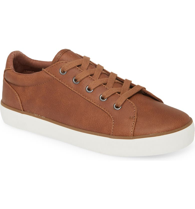1901 Lace Up Sneaker, Main, color, COGNAC FAUX LEATHER