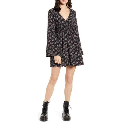 Lira Clothing Holland Long Sleeve Minidress, Black