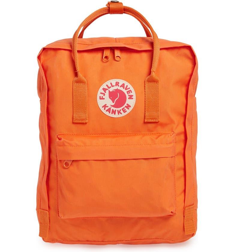FJÄLLRÄVEN Kånken Water Resistant Backpack, Main, color, BURNT ORANGE