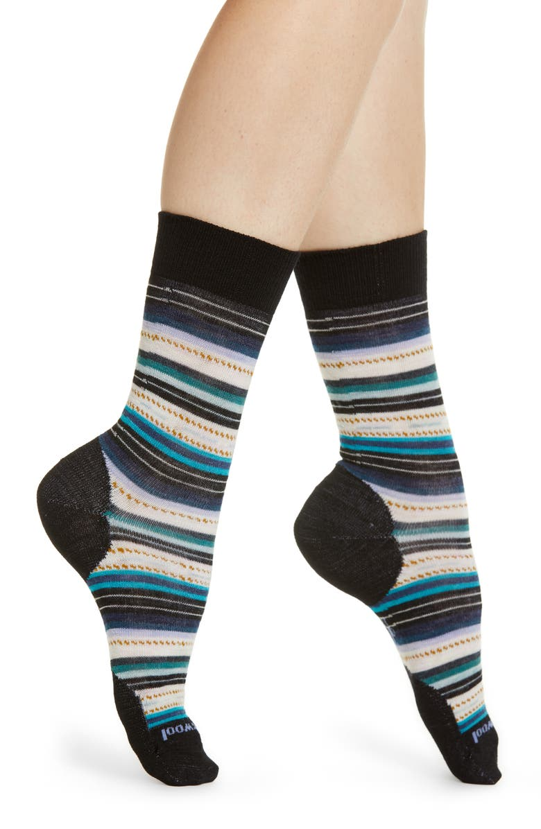 SMARTWOOL Margarita Crew Socks, Main, color, 001