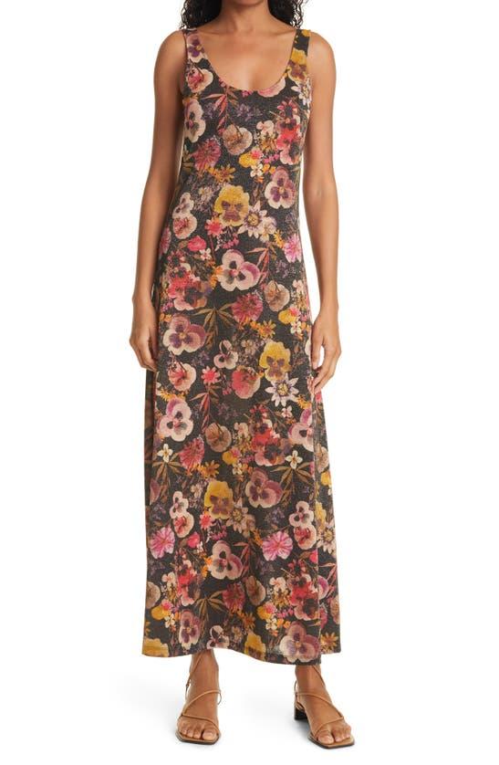 FUZZI Dresses FLORAL PRINT TANK DRESS