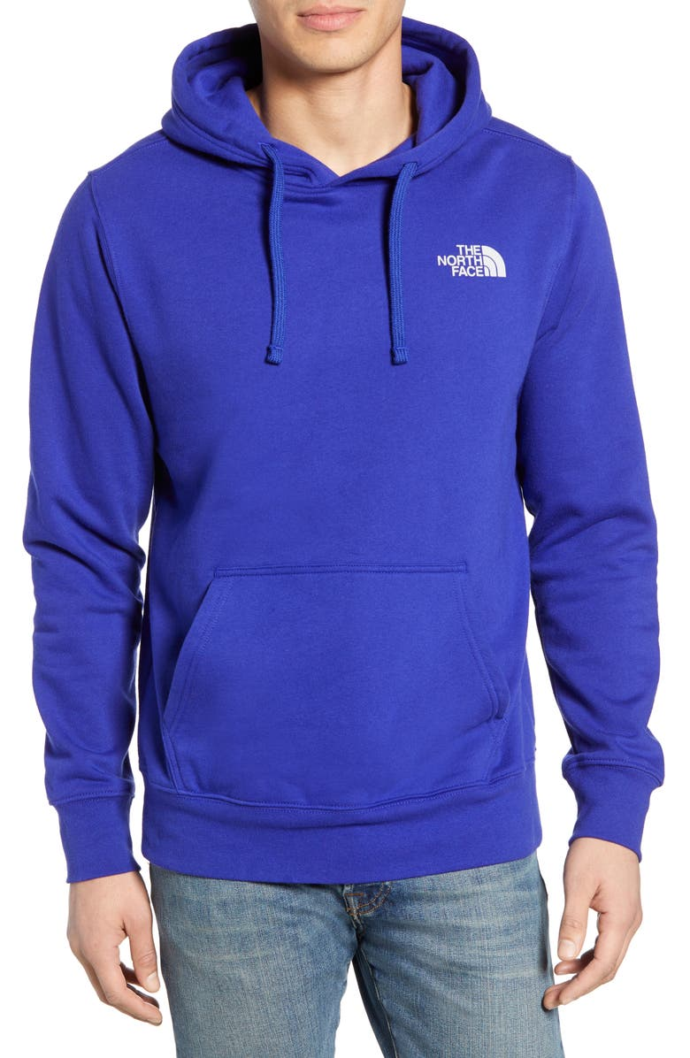 THE NORTH FACE Red Box Hoodie, Main, color, AZTEC BLUE/ HIGH RISE GREY