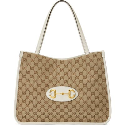 Gucci 1955 Horsebit Gg Original Canvas Tote -
