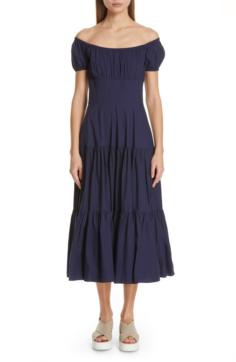 MICHAEL KORS Off the Shoulder Dress, Main, color, 410