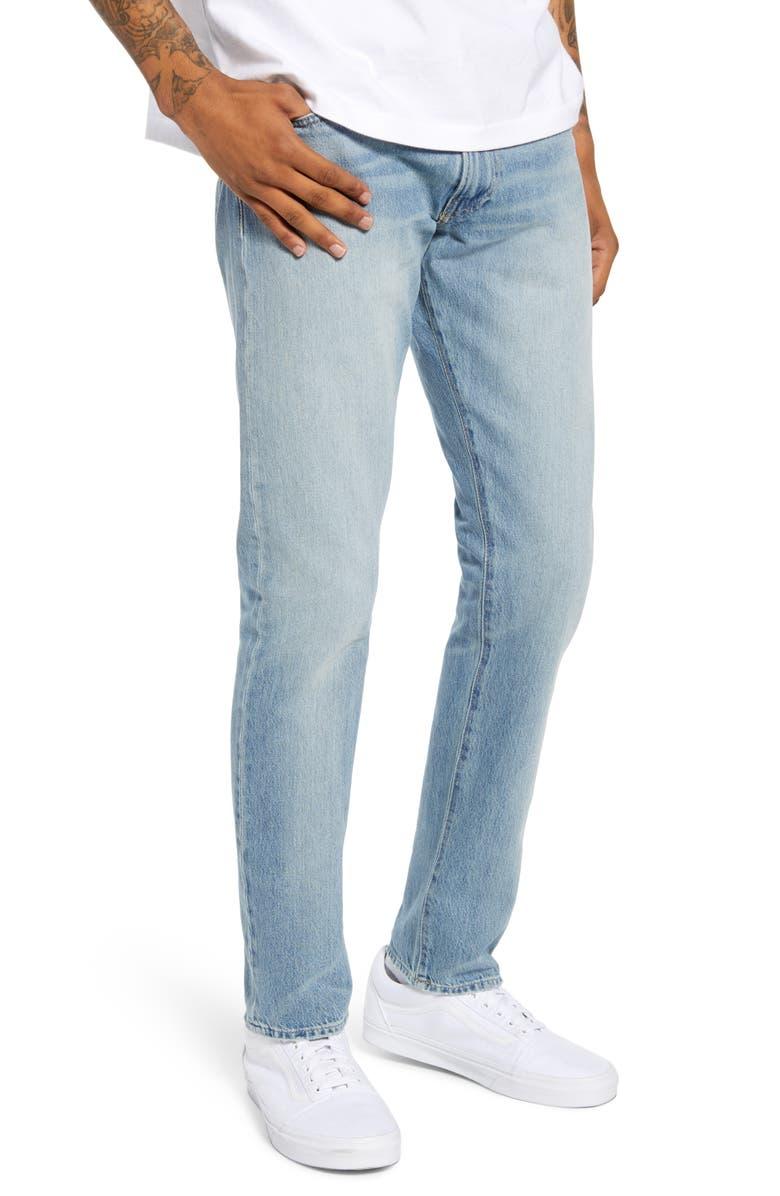 POLO RALPH LAUREN Straight Leg Jeans, Main, color, 400