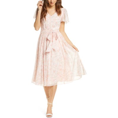 Rachel Parcell Floral A-Line Dress, Pink (Nordstrom Exclusive)