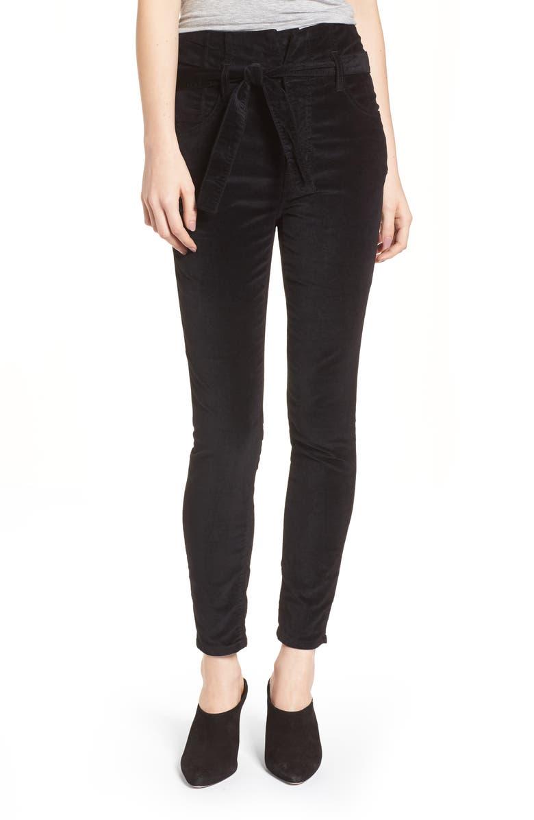 CURRENT/ELLIOTT The Corset Stiletto Ankle Skinny Pants, Main, color, 002