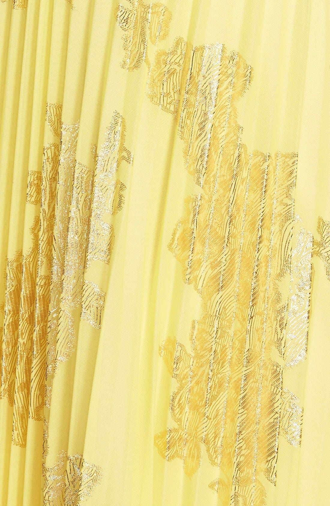 ,                             Foiled Pleated Jersey Blouson Dress,                             Alternate thumbnail 22, color,                             728