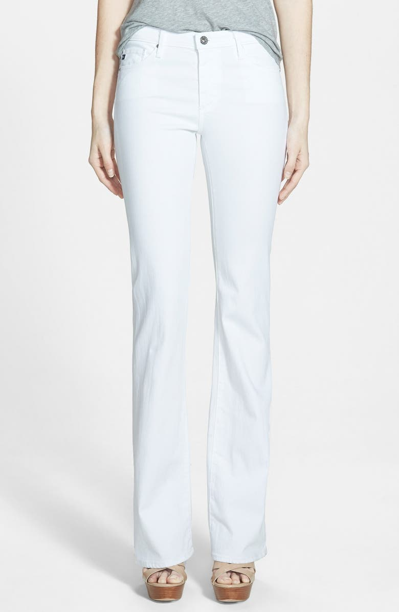 AG Angel Flare Pants, Main, color, WHITE