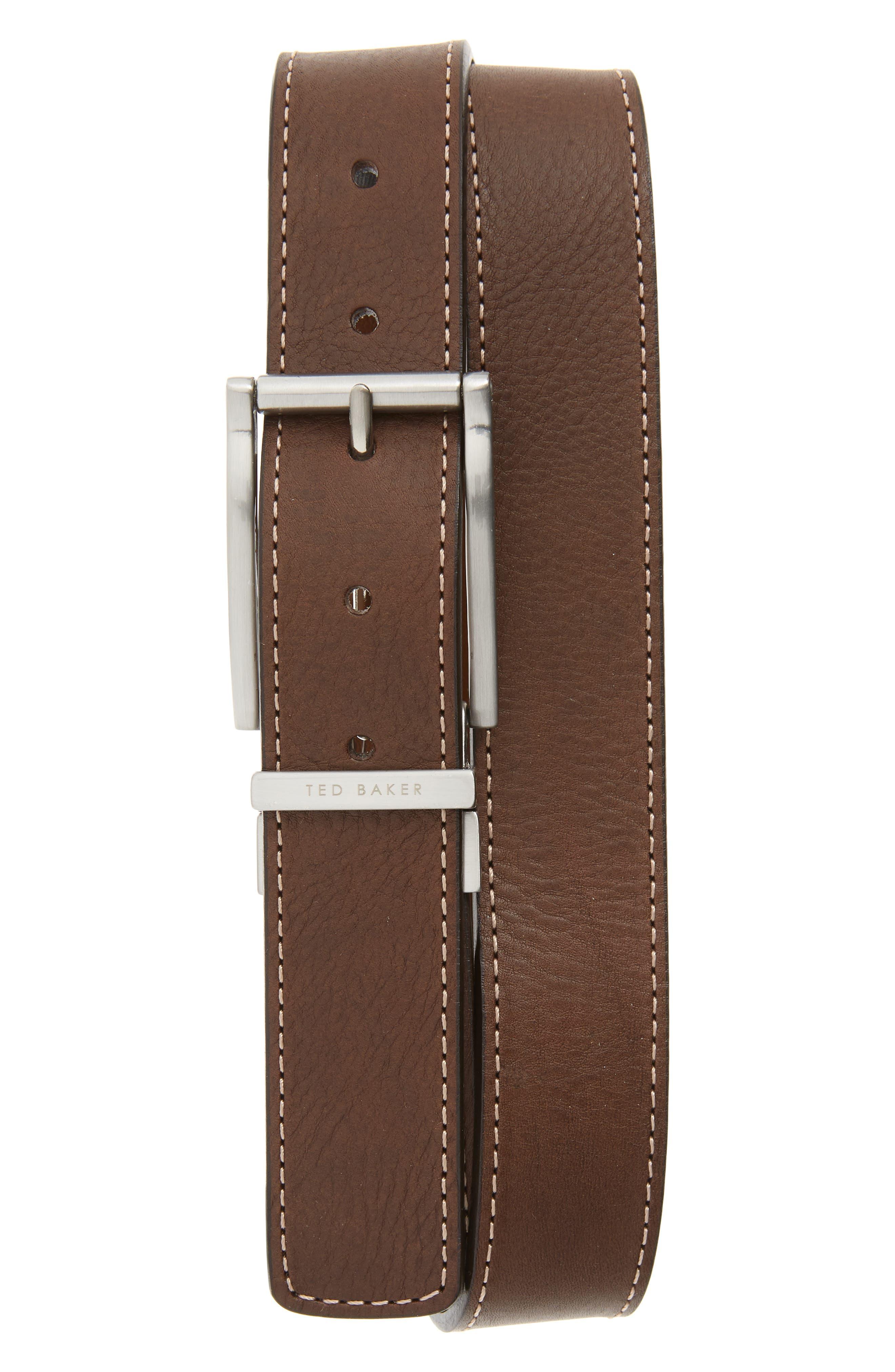 Ted Baker London Bream Reversible Belt, Chocolate