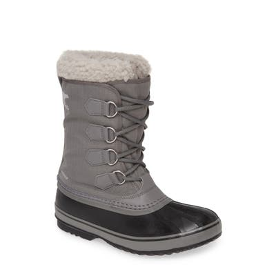 Sorel 1964 Pac Faux Shearling Trim Waterproof Snow Boot- Grey