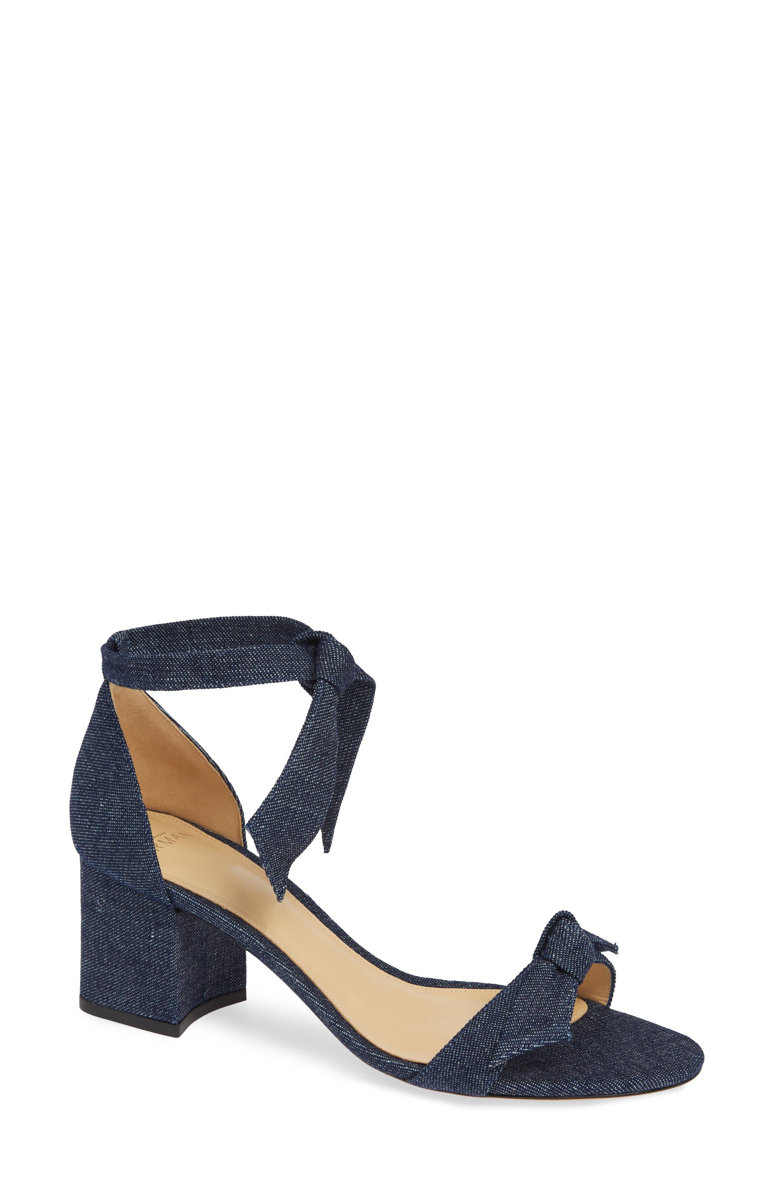 Alexandre Birman Clarita Block Heel Sandal, Blue
