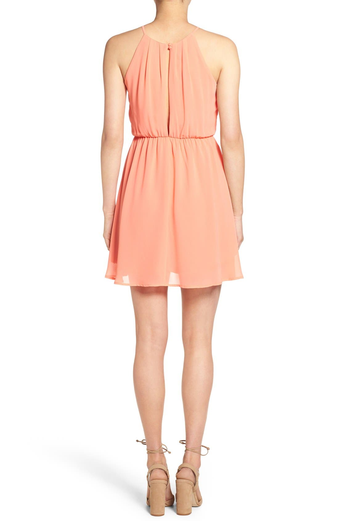 ,                             Blouson Chiffon Skater Dress,                             Alternate thumbnail 243, color,                             951