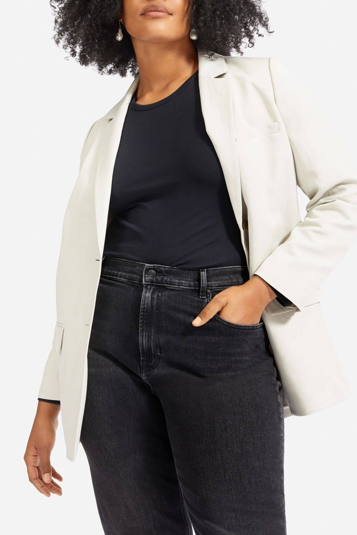 Image of EVERLANE The Cotton Linen Blazer