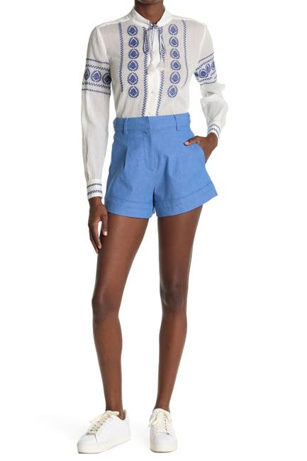 Image of DEREK LAM Mari High Waisted A-Line Shorts