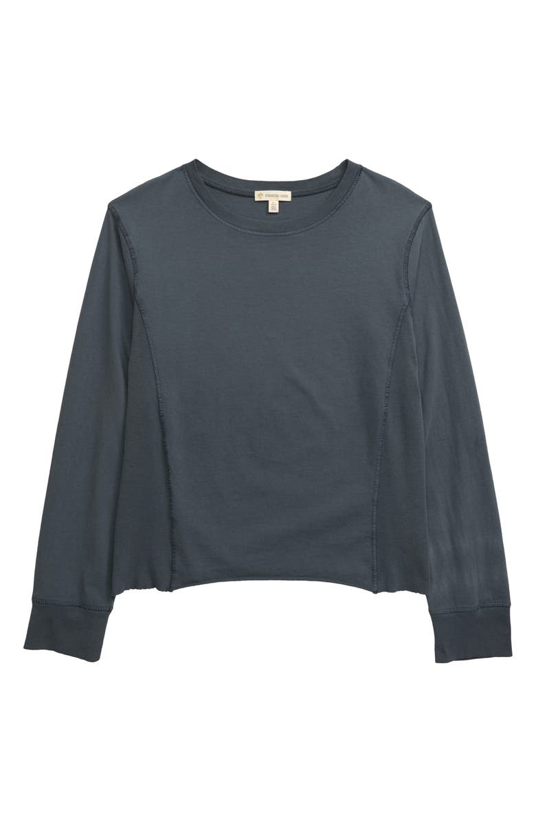 TUCKER + TATE Pieced Sweatshirt, Main, color, BLUE SLATE