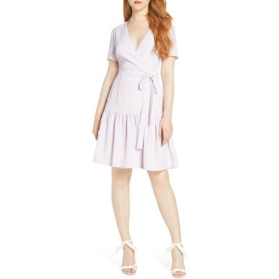 French Connection Armoise Faux Wrap Dress, Purple