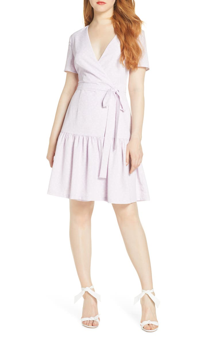FRENCH CONNECTION Armoise Faux Wrap Dress, Main, color, 500