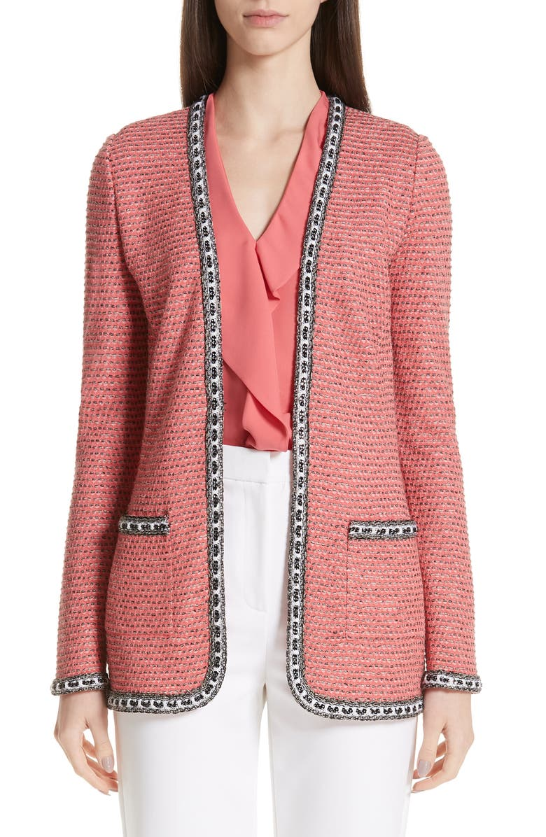 ST. JOHN COLLECTION Bibi Sweater Jacket, Main, color, 950