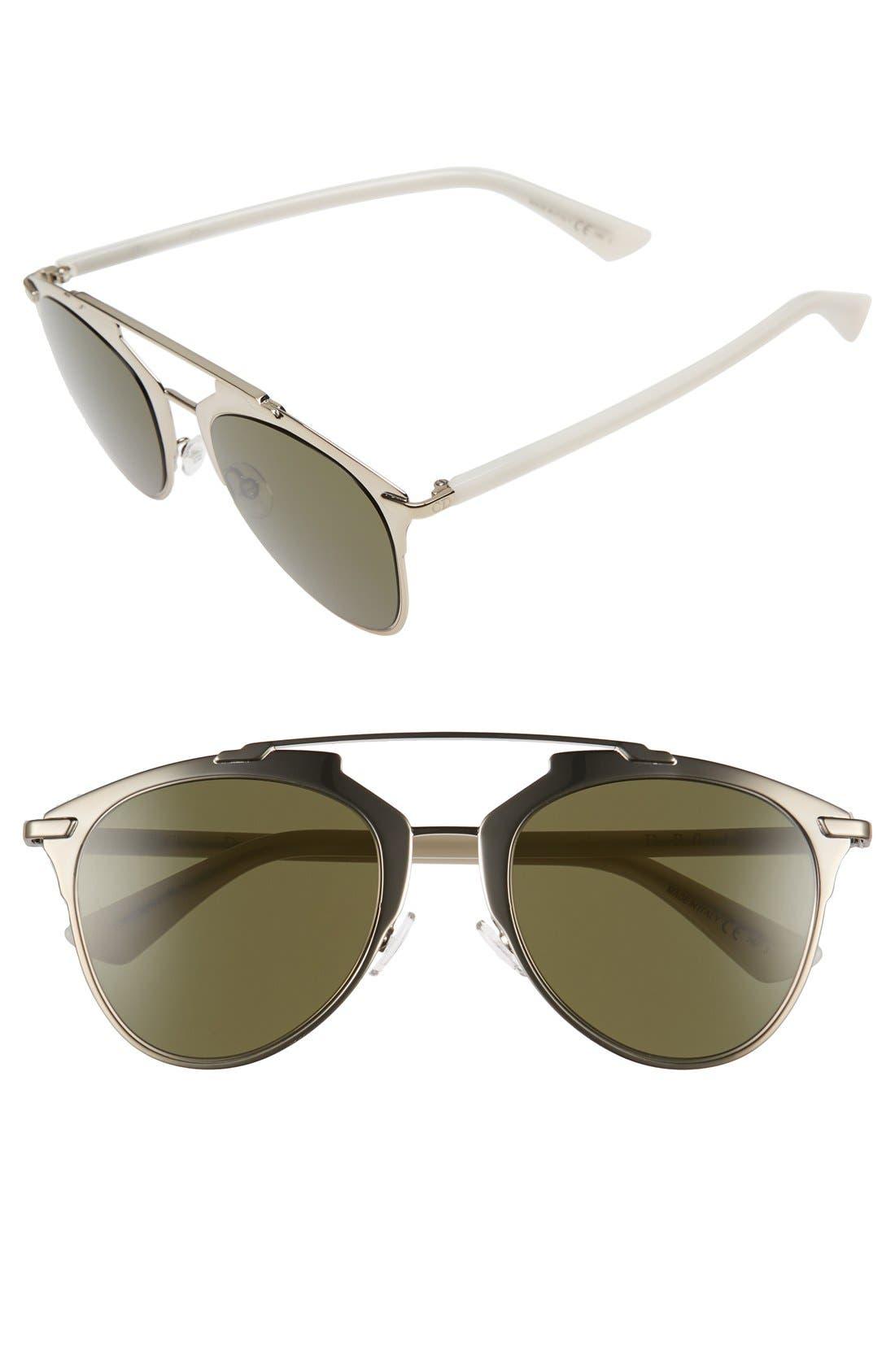 ,                             Reflected 52mm Brow Bar Sunglasses,                             Main thumbnail 42, color,                             714