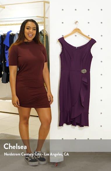 Ruffle Hem Sheath Dress, sales video thumbnail