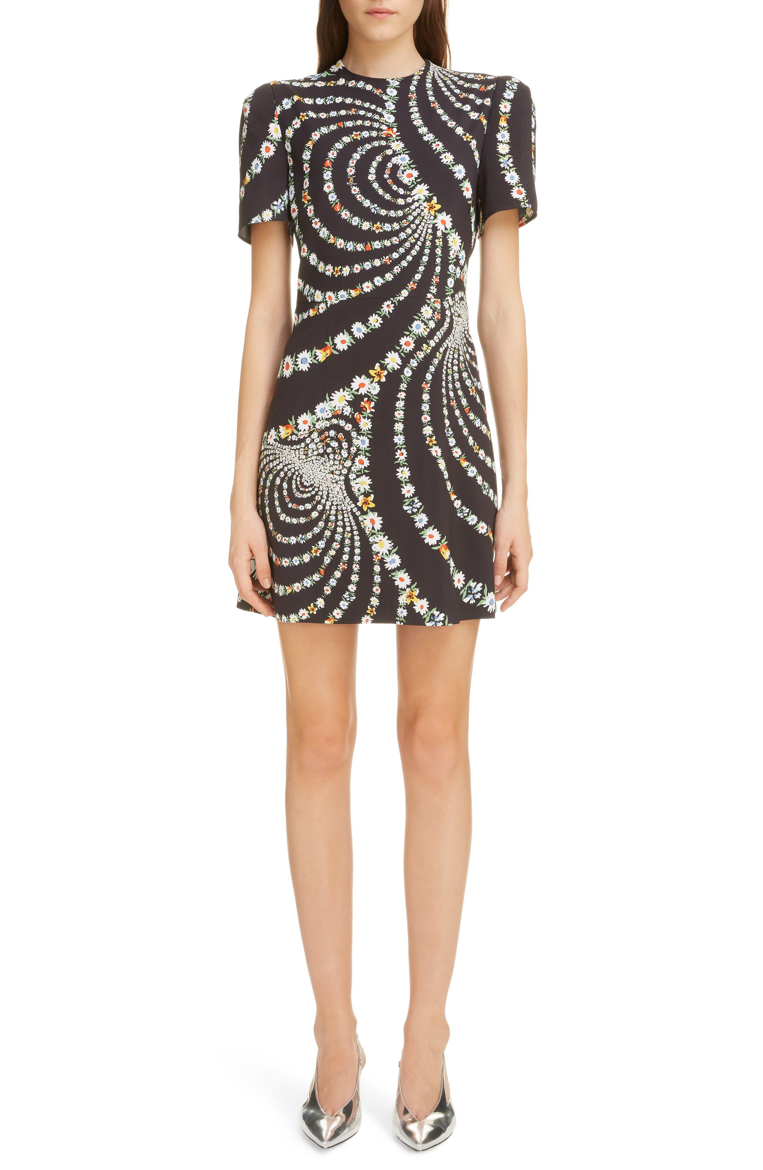 Givenchy Daisy Print Dress, Black