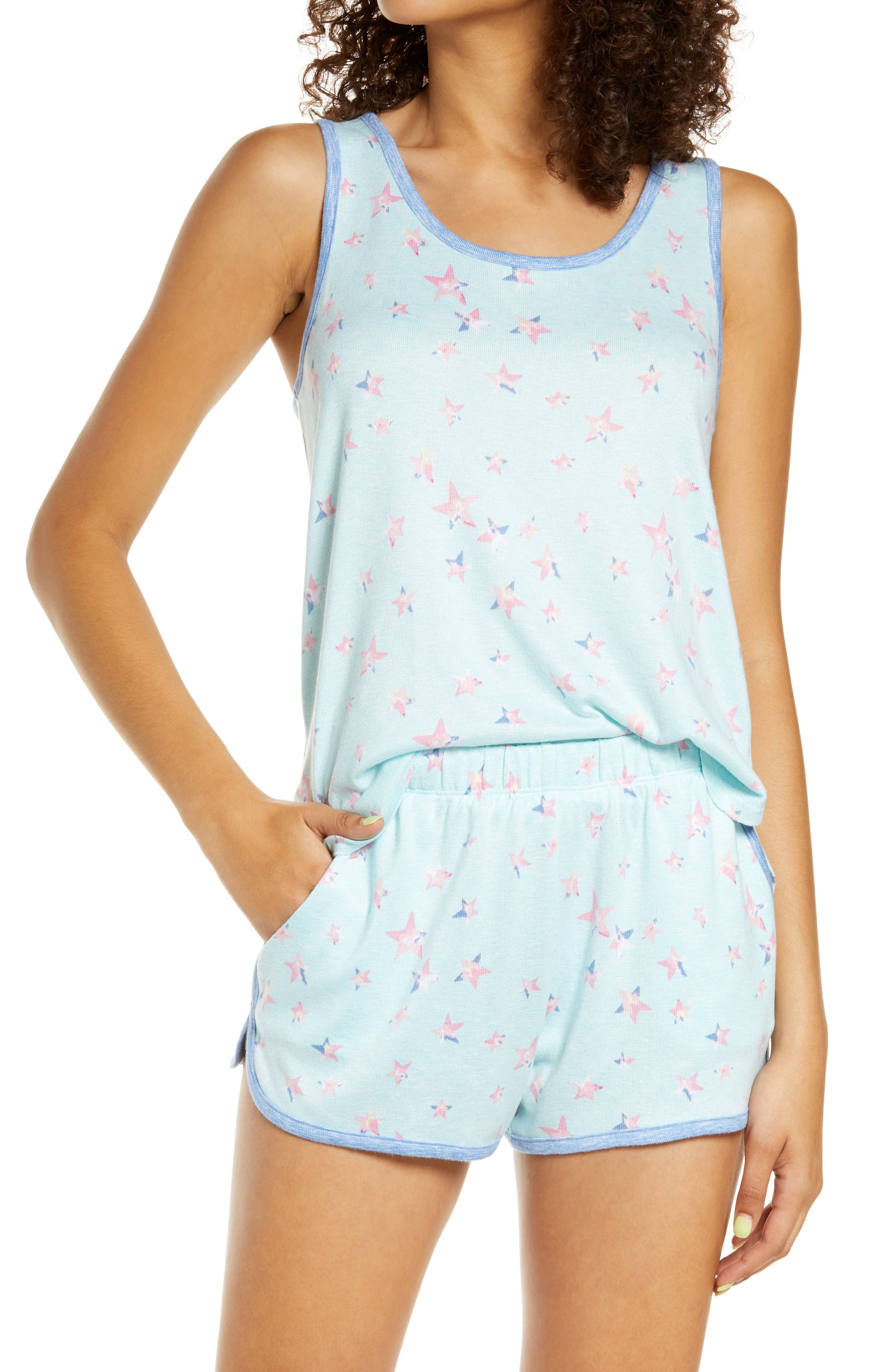 Stripe Racerback & Shorts Pajama