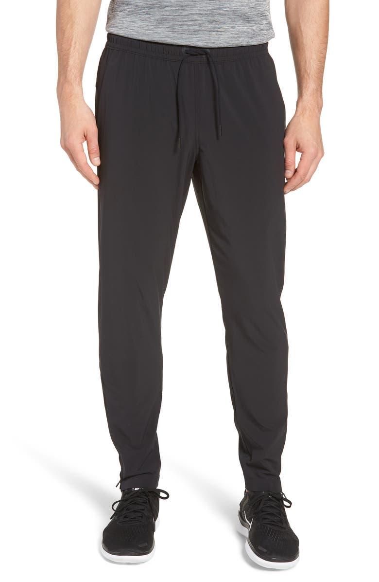 ZELLA Graphite Slim Fit Athletic Pants, Main, color, BLACK