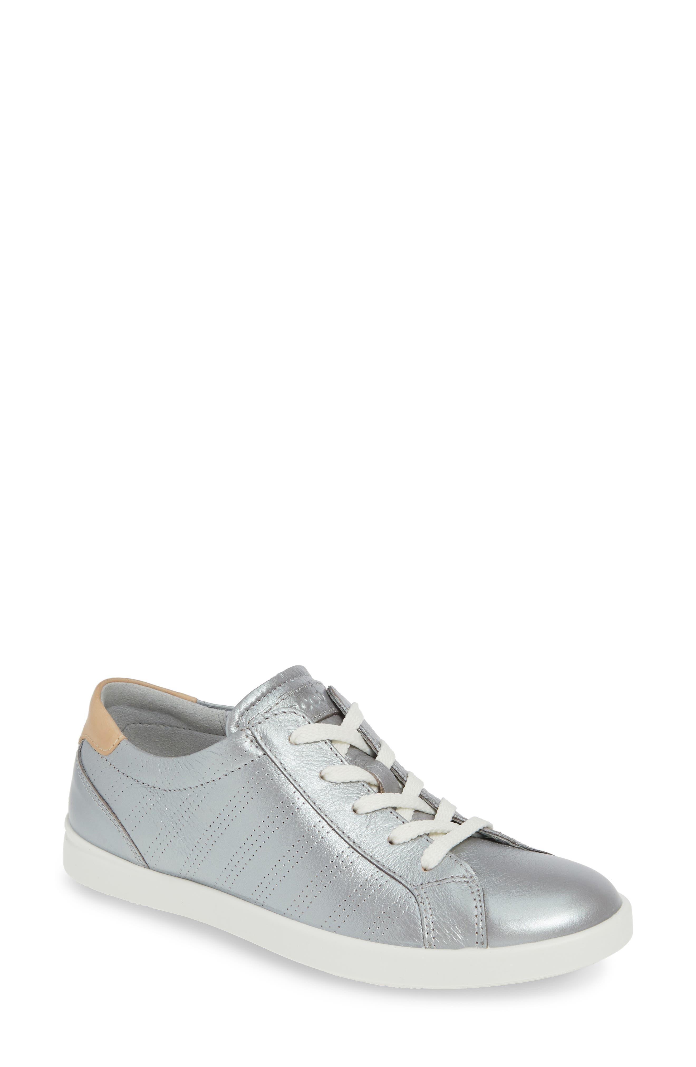 Ecco Leisure Tie Sneaker, Grey