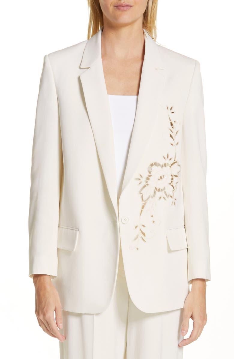 STELLA MCCARTNEY Eyelet Jacket, Main, color, 900