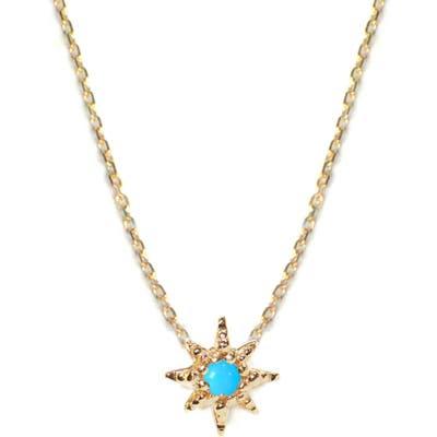 Anzie Starburst Turquoise Pendant Necklace