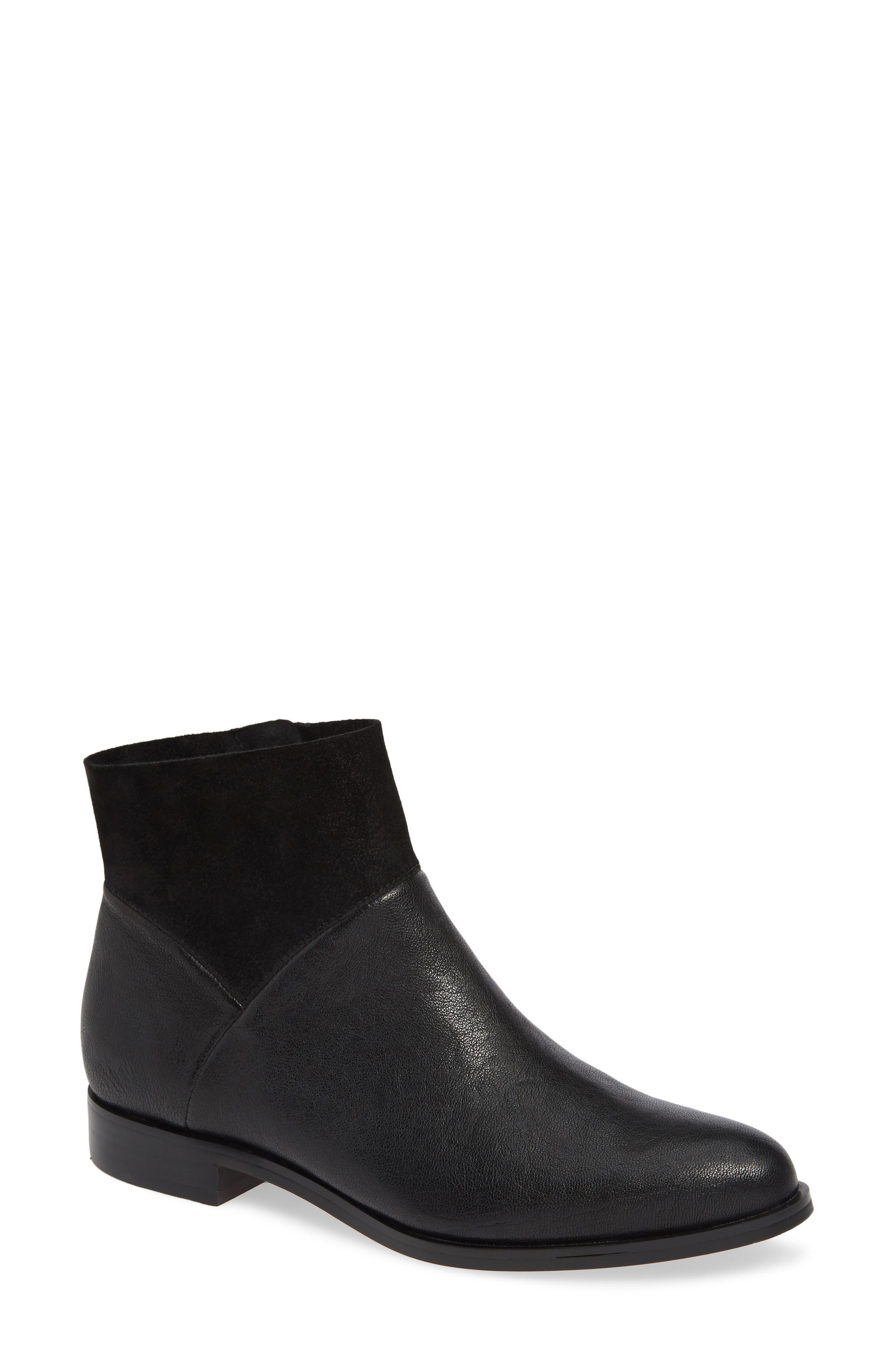 ,                             Isola Mosina Bootie,                             Main thumbnail 1, color,                             BLACK LEATHER
