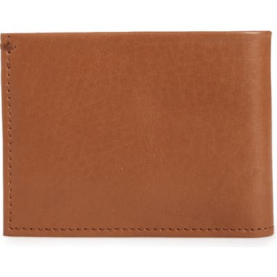 Shinola Slim Bifold Leather Wallet - Brown