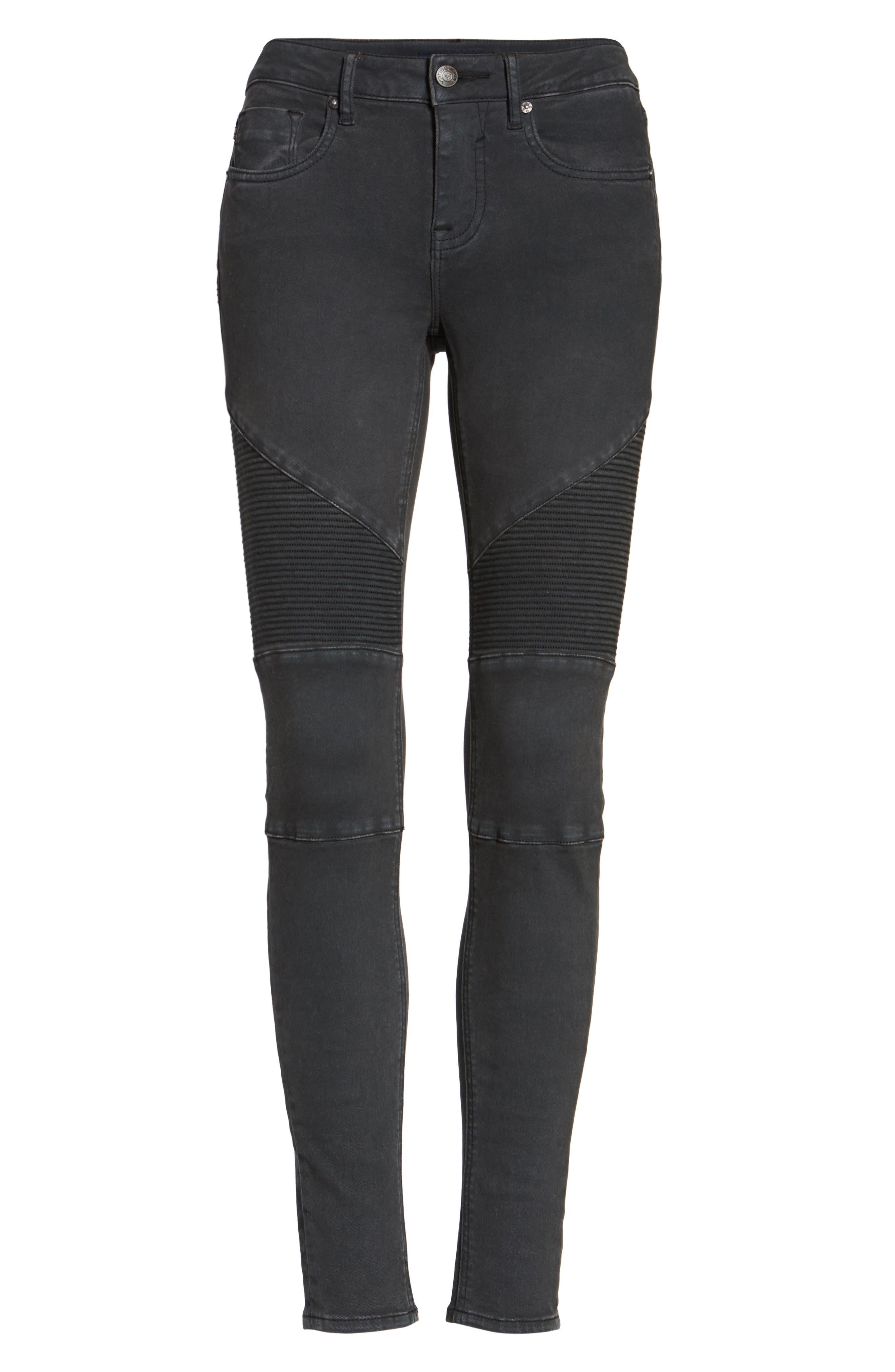 ,                             Moto Skinny Jeans,                             Alternate thumbnail 6, color,                             001