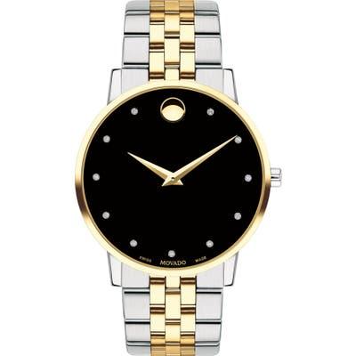 Movado Museum Diamond Bracelet Watch, 40mm