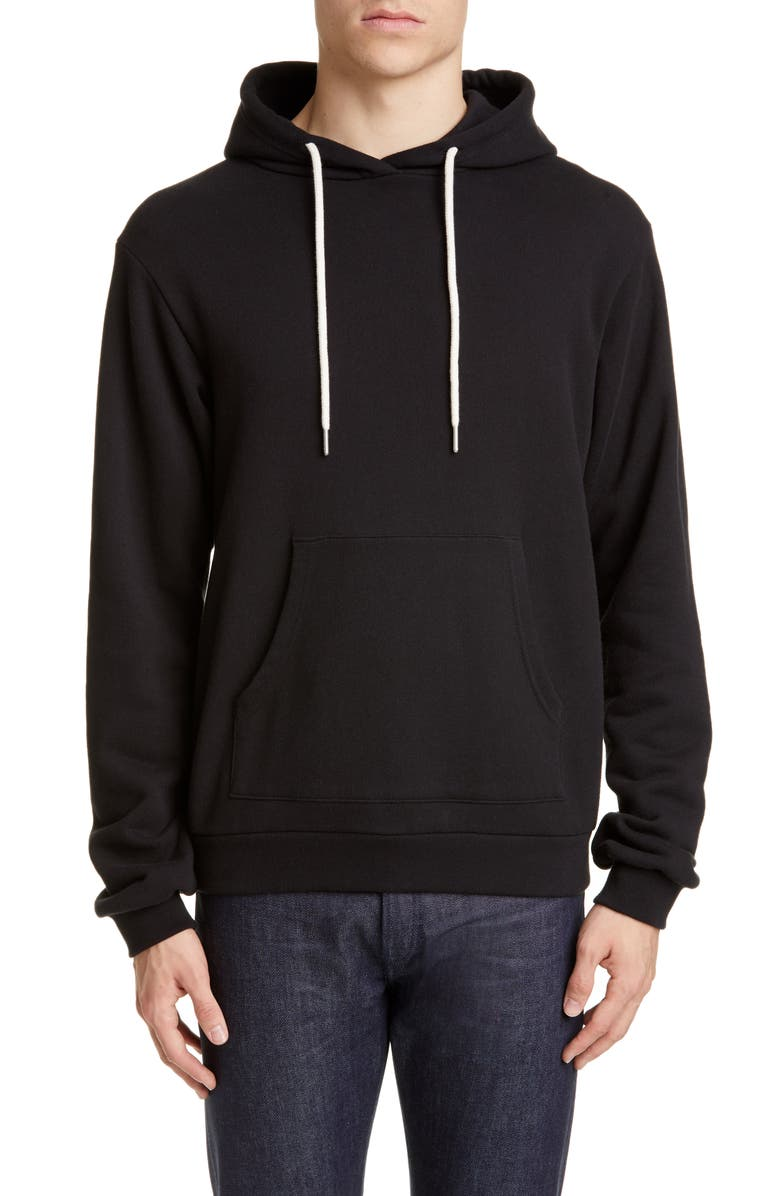 JOHN ELLIOTT Beach Relaxed Fit Hoodie, Main, color, BLACK