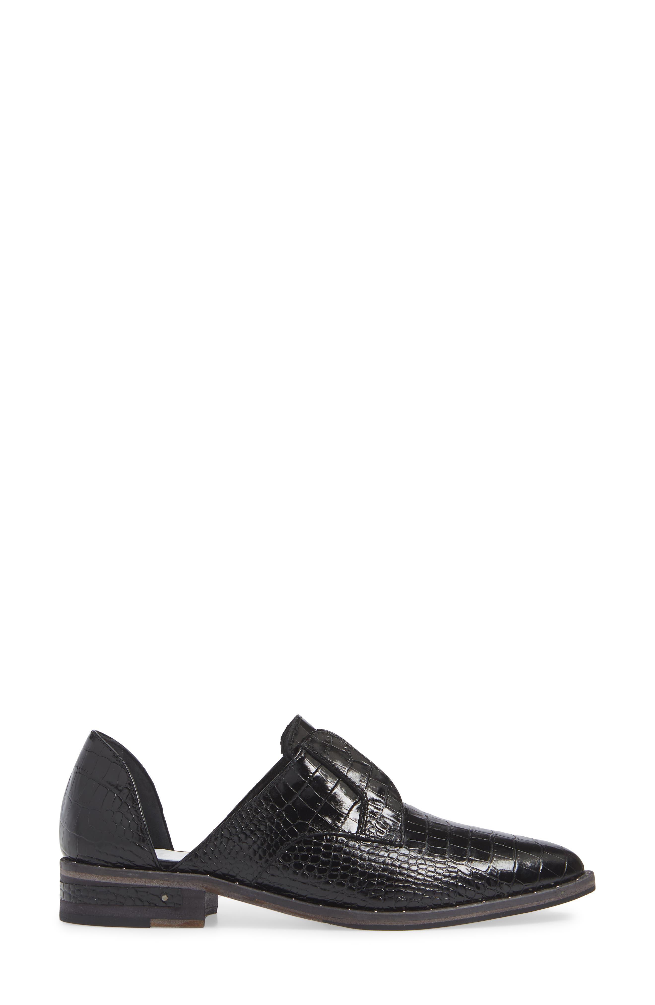 ,                             Wear d'Orsay Laceless Derby,                             Alternate thumbnail 3, color,                             BLACK CROC