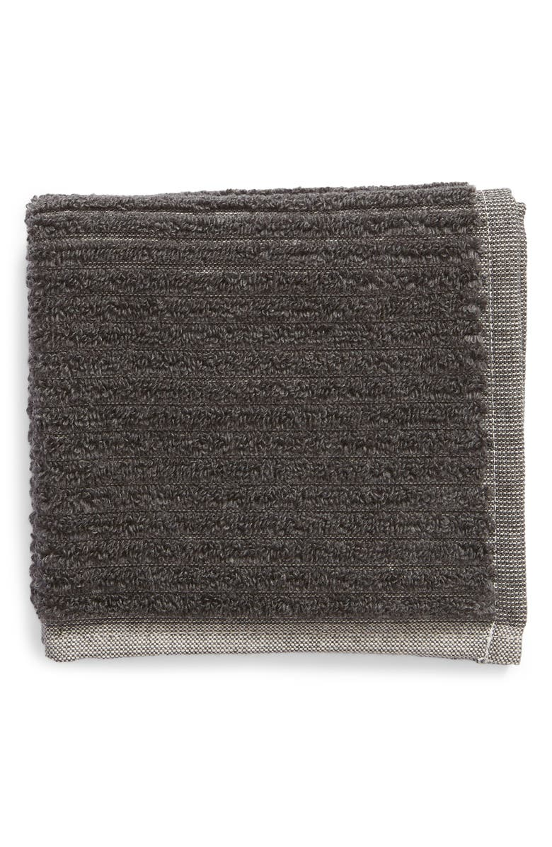 NORDSTROM Rib Organic Cotton Washcloth, Main, color, 020