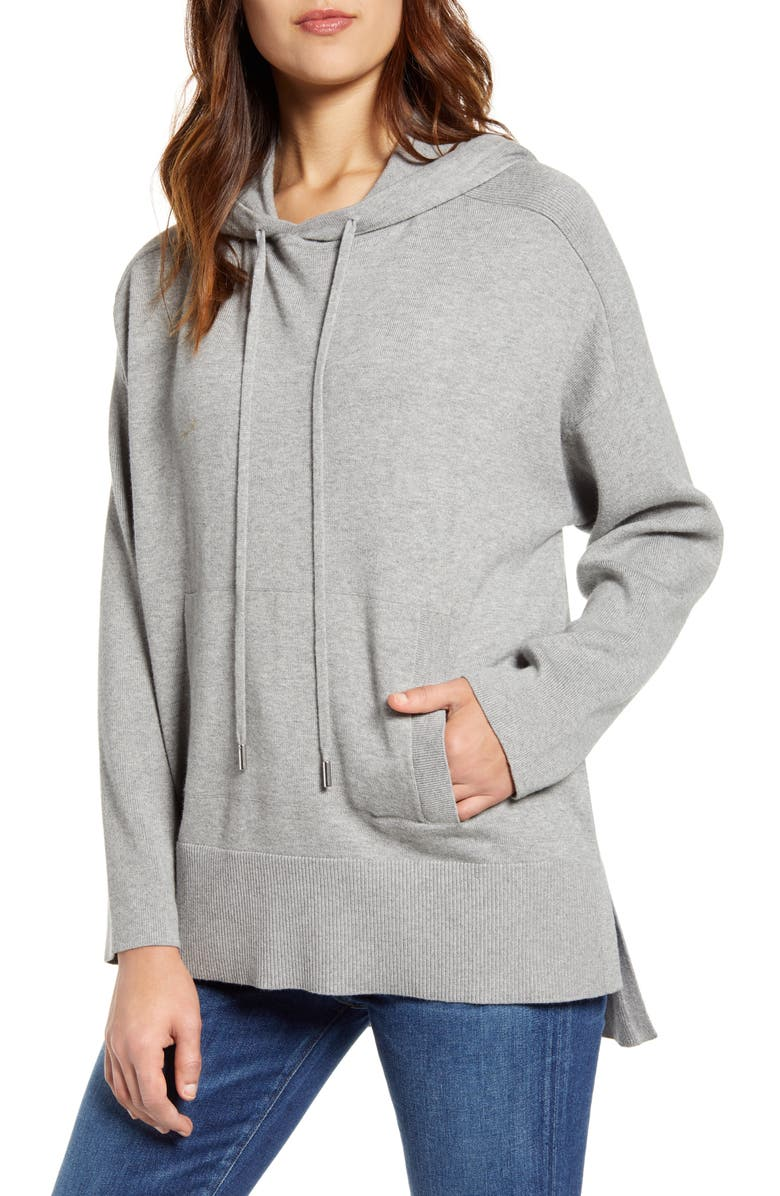 TOMMY BAHAMA Tami Lounge Hoodie, Main, color, FOSSIL GREY