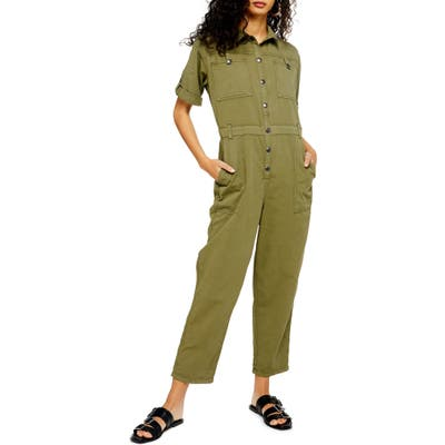 Topshop Boiler Jumpsuit, US (fits like 0-2) - Green