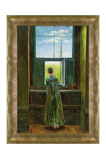 """Image of Overstock Art Woman at a Window with Sirocco Frame, 31"""" x 43"""""""