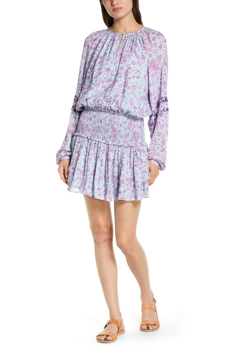 HEMANT & NANDITA Floral Cover-Up Dress, Main, color, LILAC