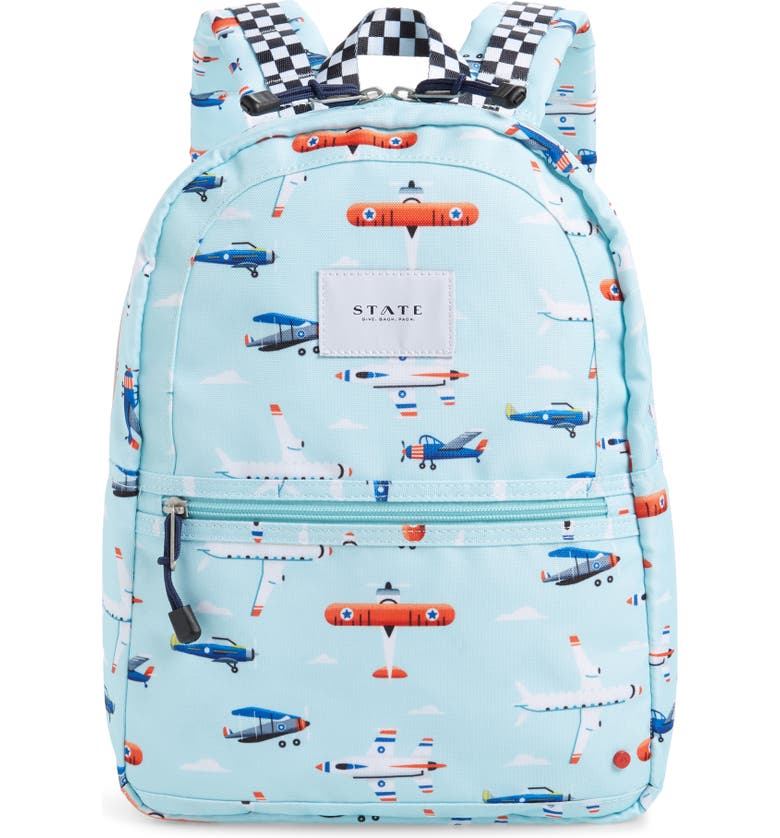 STATE BAGS Mini Kane Airplanes Backpack, Main, color, AIRPLANES
