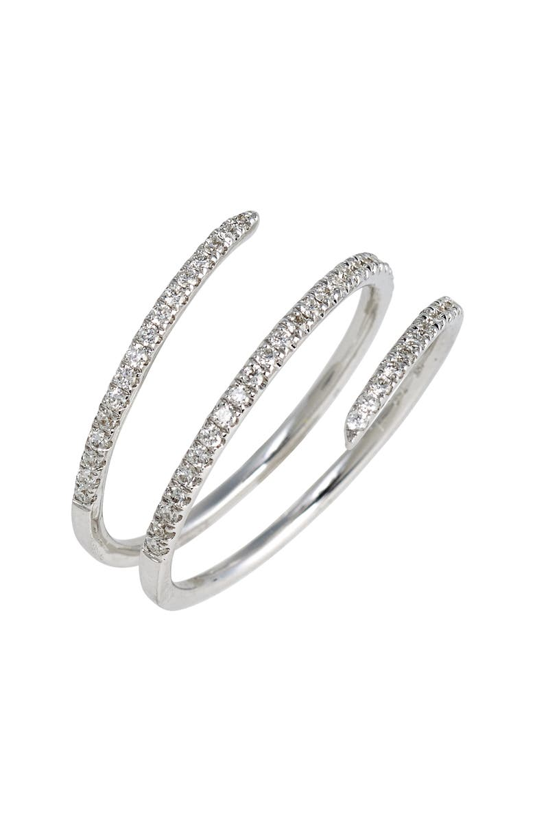 BONY LEVY Diamond Coil Ring, Main, color, WHITE GOLD