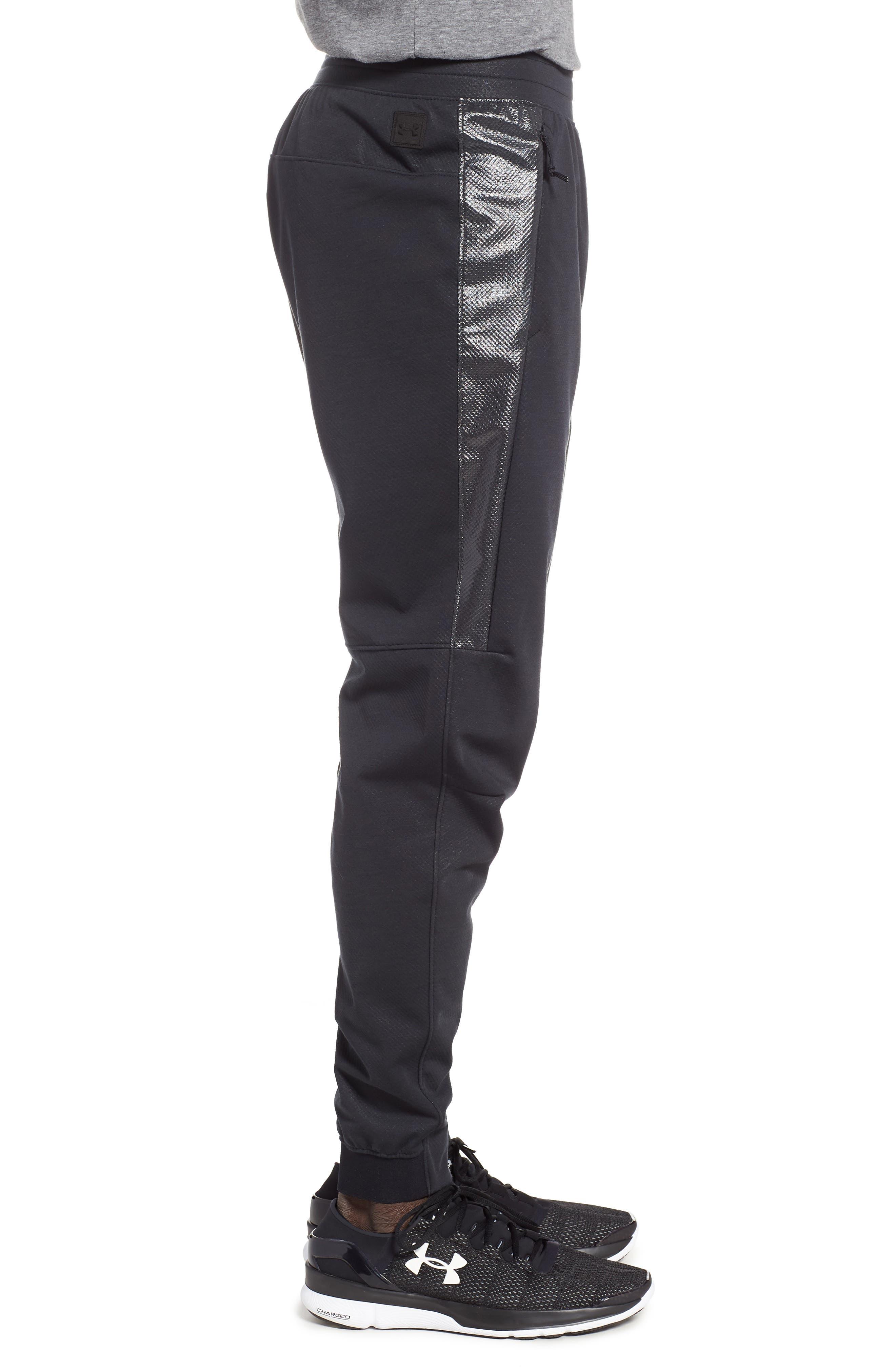 ,                             Unstoppable Swacket Training Pants,                             Alternate thumbnail 3, color,                             BLACK FULL HEATHER/ BLACK