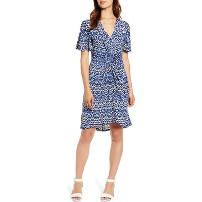 Tommy Bahama Desi Dots Elbow Sleeve Dress, Blue